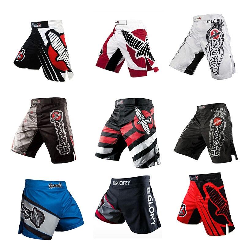 Calças De Boxe para Os Homens de Impressão profissional Sanda Lutando Muay Thai Calças de Treinamento Ginásio MMA Shorts Respirável Vestuário Desportivo