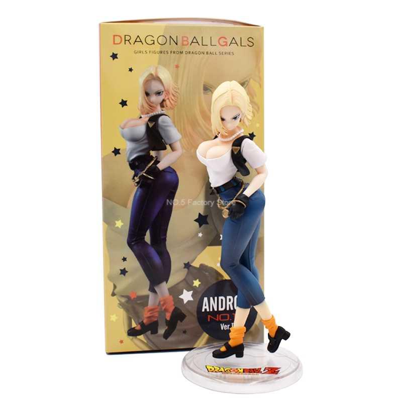 4 estilos dragon ball z android 18 lazuli anime dos desenhos animados figura de ação pvc brinquedo coleção figuras modelo para amigos presente natal
