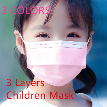 50/100/200 PCS Kid Face Mask Protective Mouth Mask Children Mask Disposable Non-Woven 3 Layers Anti-Virus Mascarilla Earloop