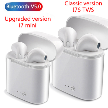 I7 mini TWS Bluetooth Earphones Portable Wireless mini With Charging Box/ I7S TWS Earbuds / wireless earbuds for IOS and Android цена 2017