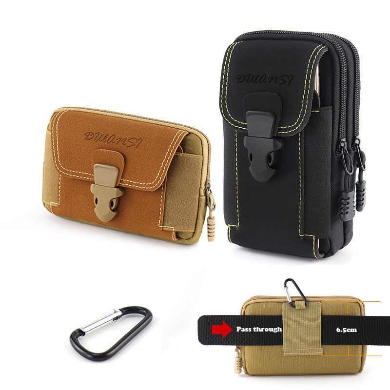 Universal Canvas Waterdichte Mobiele Telefoon Zak Voor Samsung/Iphone/Huawei/Htc/Lg/Xiaomi Wallet Case belt Pouch Portemonnee Cover