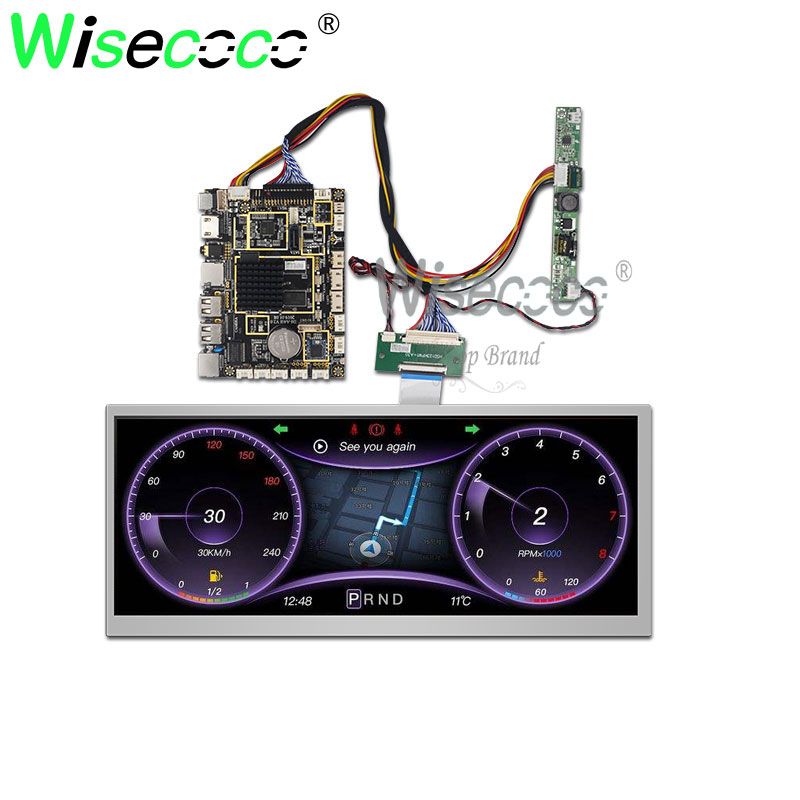 12.3 Inch 1920*720 IPS Screendisplay With USB Lvds TF Card Android Driver Board 1000 Nits For Car Display And Industrial Display