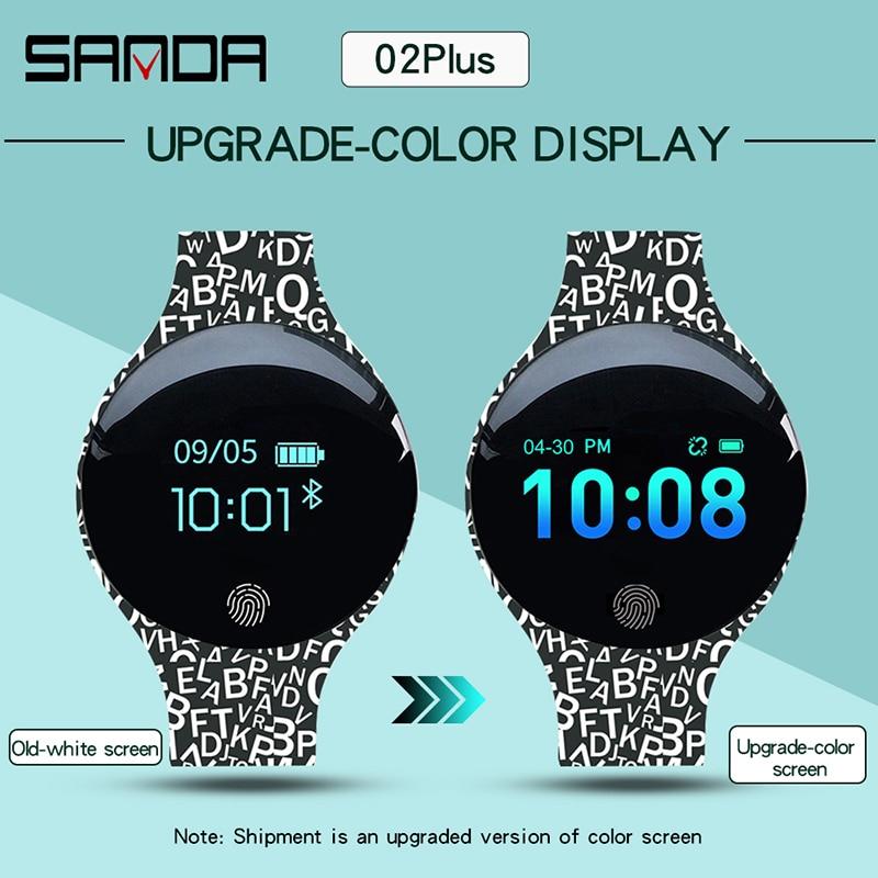 SANDA-montre de Sport pour femmes, étanche, calorimètre, Bracelet, luxe, moniteur de sommeil, GPS, pour Android et IOS 4
