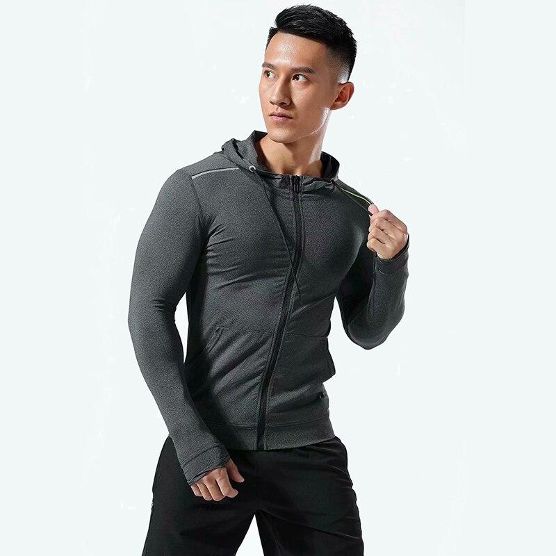 running - Men Brand Hoodies Gym Sport Running Training Fitness bodybuilding Sweatshirt Outdoor Sportswear Male Hooded Jacket Hoodies MMA