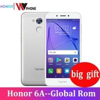 Honor 6A Play, 2 ГБ, 16 ГБ, оригинальный новый мобильный телефон, Восьмиядерный процессор Snapdragon 430, Android 7,0, 5,0 дюймов, отпечаток пальца ID