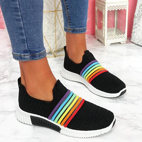 Women Sneakers Woman Mesh Vulcanized Ladies Loafers Female Slip On Casual Walking Shoes Women's Breathable Footwear Plus Size 43