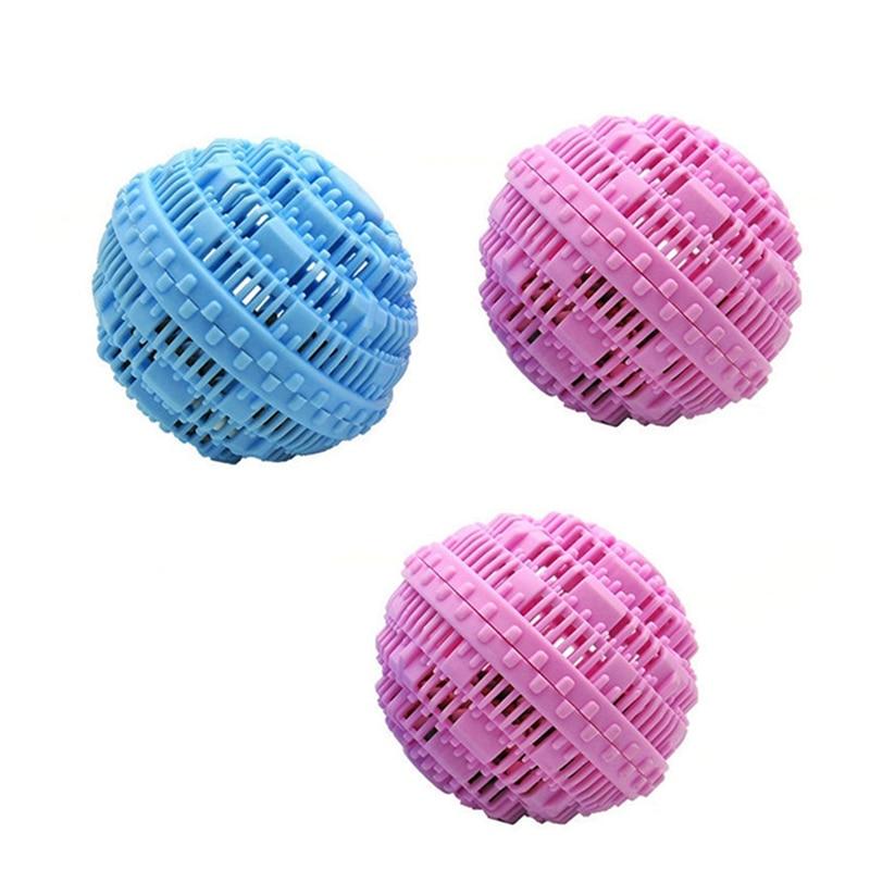 3 pces bolas de limpeza de lavanderia reutilizáveis magia anti-enrolamento roupas máquina de lavar produtos washzilla a-nion moléculas limpeza também