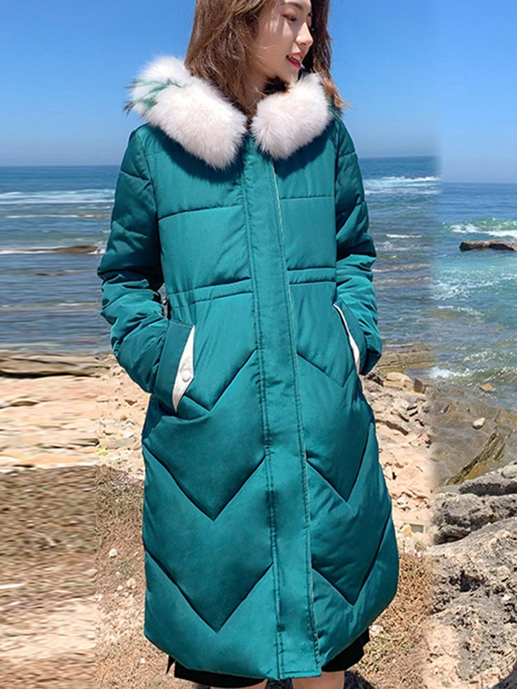 2019 new high quality fur collar women winter coat female warm wadded jacket womens outerwear parka casaco feminino inverno in Parkas from Women 39 s Clothing