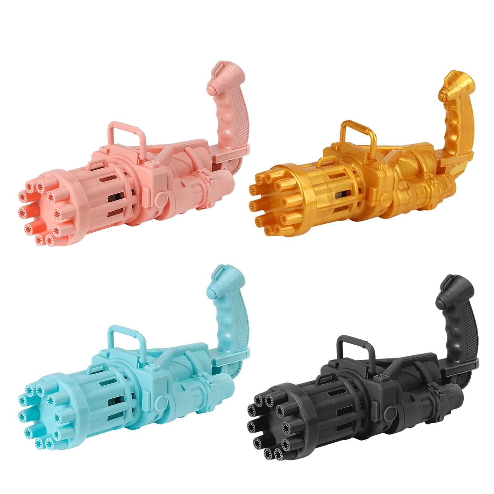 Электрическая пузырчатая машина Gatling, автоматический пистолет для пузырей с 10 отверстиями, игрушки для детей, волшебный аппарат для мыльных...