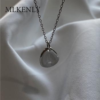 MLKENLY nuevo 925 Plata de Ley Europa y los Estados Unidos INS cadena geométrica popular y Collar corto de enlace para joyería de mujer