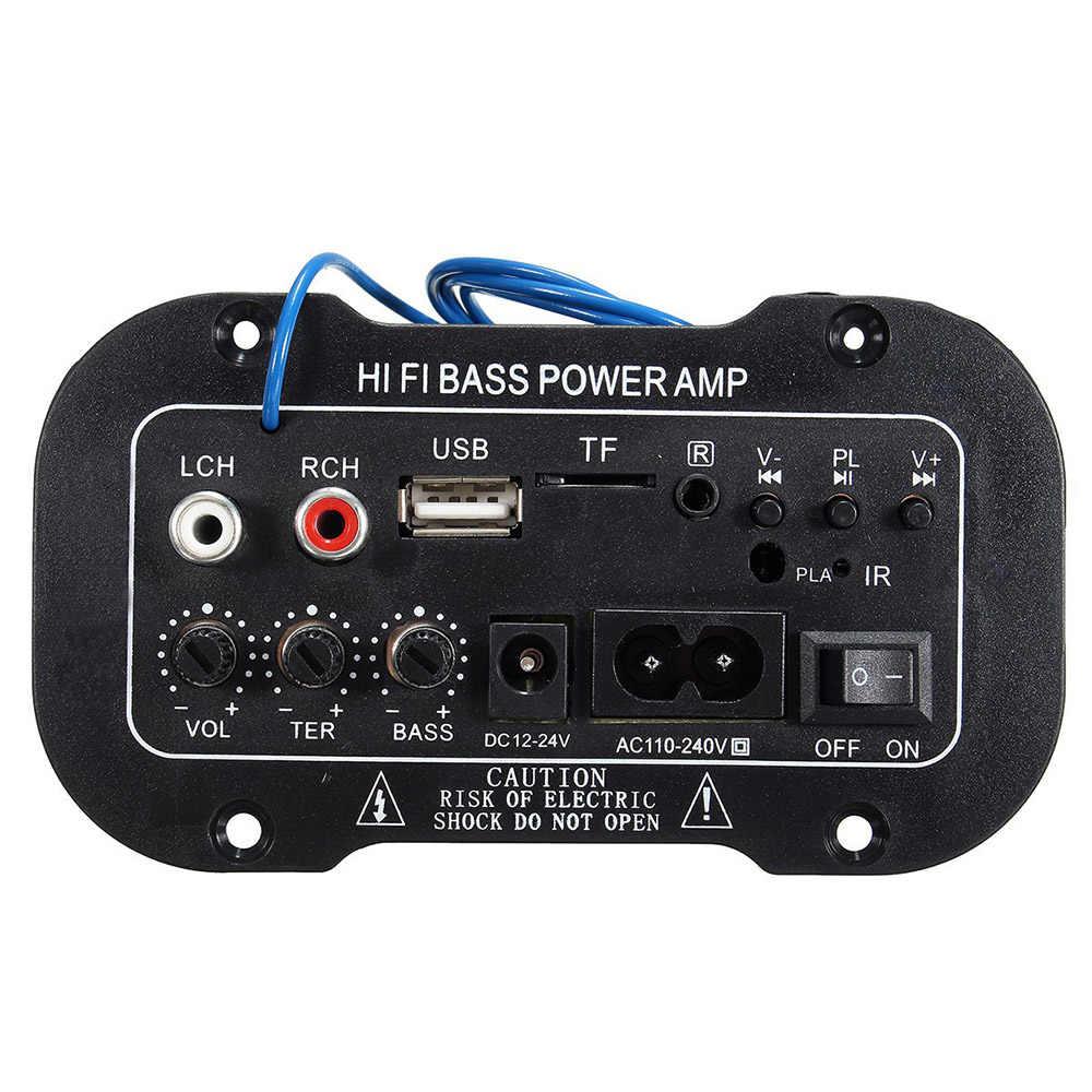 220V Mobil Bluetooth 2.1 Hi-Fi Bass Power Amp Mini Auto Mobil Amplifier Stereo Radio Audio Digital Amplifier USB TF remote