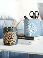 Fashion Simple Cute Pen Stand Creative Desk Organizer Pencil Holder Office Accessories Stationery Storage Box