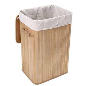 Cesto de bambú para la ropa sucia cesto de mimbre clasificador de Bolsa de Almacenamiento de Ropa contenedor organizador tapa paño de lavado tapa Rangier
