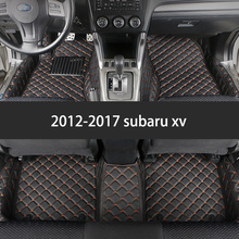 цена на lsrtw2017  leather car floor mat for subaru XV 2011 2012 2013 2014 2015 2016 2017 2018 2019 2020 Impreza forester outback legacy