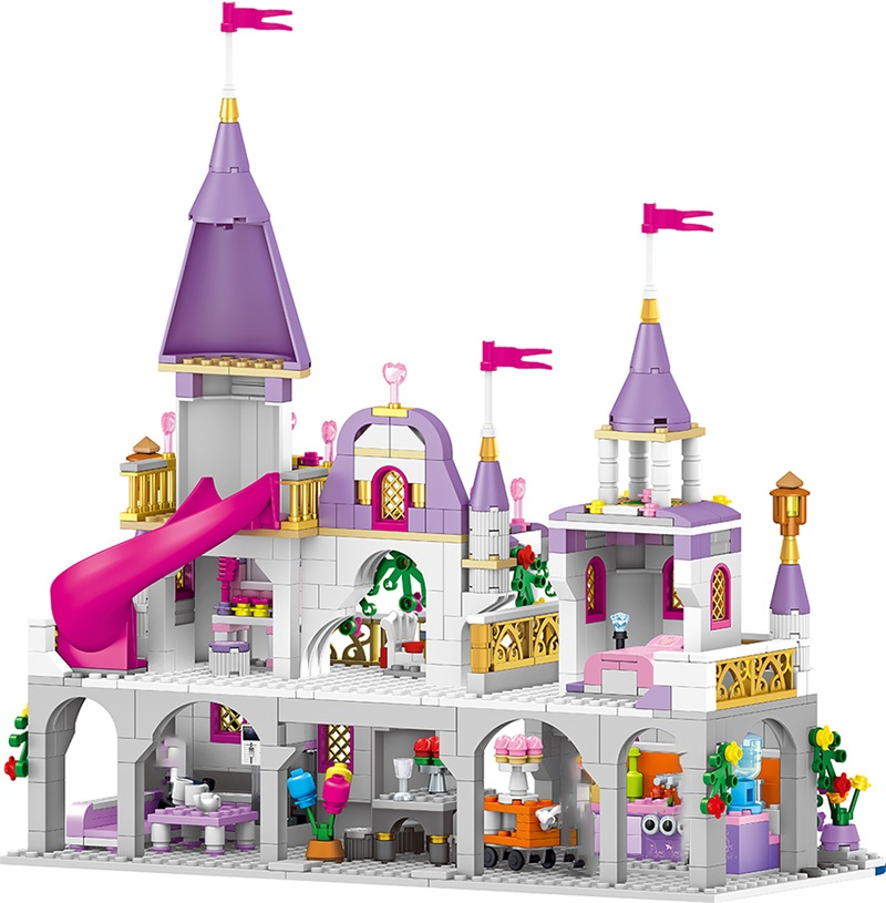 Princess Series Enchanted Castle Palace Models Building Blocks Model Compatible By Girl Boy Toy For Pretty Girl Gift