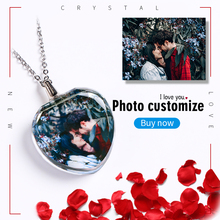 Personalized Photos Necklace Crystal Glass Colorful Print Souvenir Gifts Womens Accessories Customize Pendant Trinket