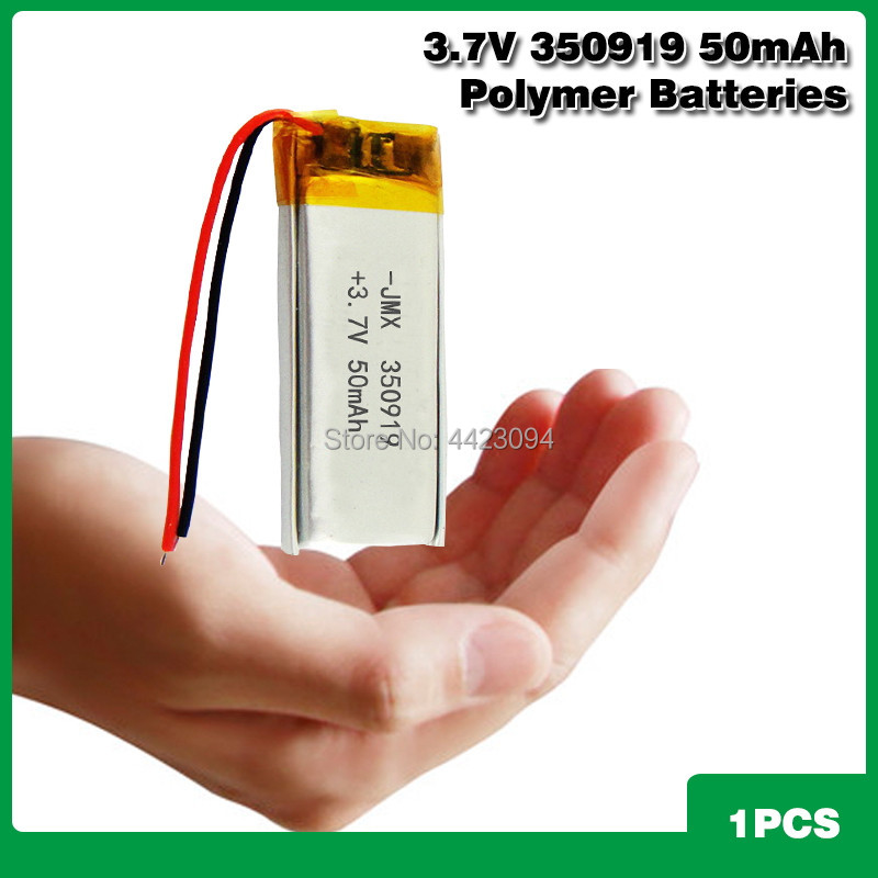 350919 <font><b>3.7v</b></font> <font><b>50mAh</b></font> Lithium Polymer Li-Po li ion Rechargeable <font><b>Battery</b></font> For BT headset MP3 massage stick selfie Smart watch image