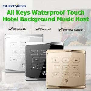 Image 2 - Casa mini bluetooth Audio in Parete pa amplificatore smart centro musicale Stereo sistema di Amplificazione del suono Hotel bluetooth fm usb sd lettore