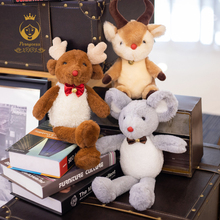 1PCS 25cm Christmas Bells Mouse Mule Deer Velvet Toys High Quality Plush Stuffed Animals Kids Toy Home Decoration Gift