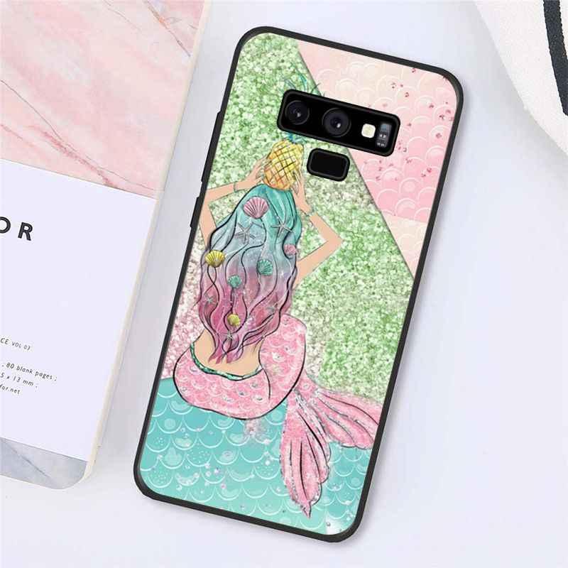 Maiyaca sirena cola escama caso de teléfono para Samsung Galaxy A50 A70 A20 A30 Note9 8 Note7 Note10 Pro