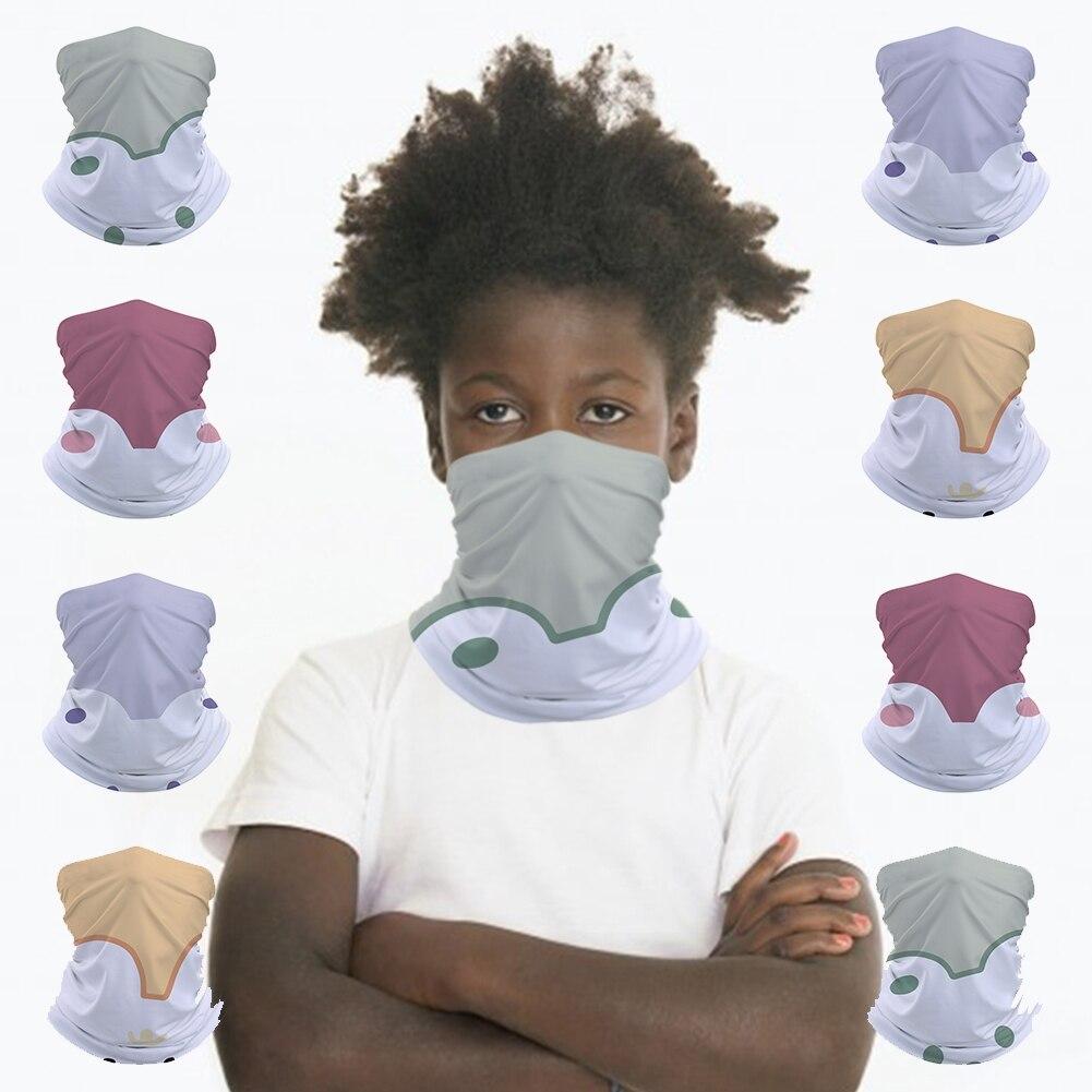 Cute White Bear Kids Face Mask Seamless Bandana Headband Tube Scarf Balaclava Headwear