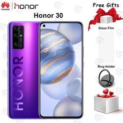 Перейти на Алиэкспресс и купить original new honor 30 mobile phone 6.53 inch 6g ram 128g rom kirin 985 octa core android 10 50x digital zoom 40mp 5g smartphone