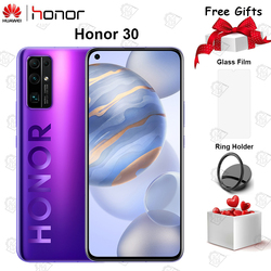 Oryginalny nowy Honor 30 telefon komórkowy 6.53 cala 6G RAM 128G ROM Kirin 985 Octa Core Android 10 50x Zoom cyfrowy 40MP 5G Smartphone
