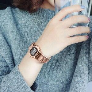 Image 5 - SKMEI kadınlar dijital saatler moda spor kol saati kronometre Chronograph su geçirmez bilezik bayanlar elbise İzle çalar saat