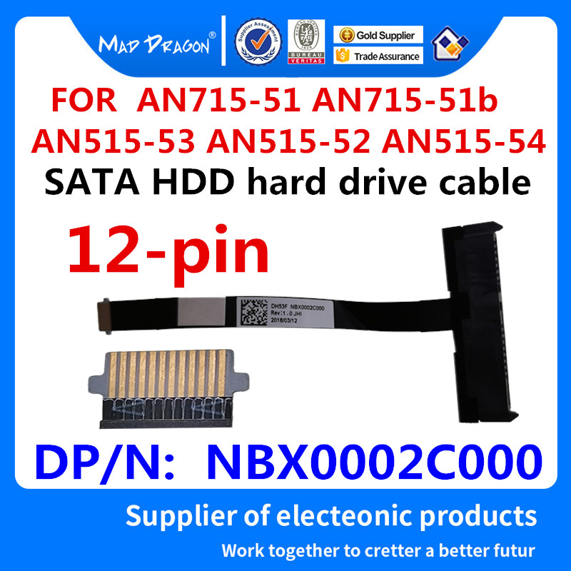 New Original For ACER AN715-51 AN715-51b AN515-53 AN515-52 AN515-54 SATA SSD HDD Hard Drive Cable Disk Connector NBX0002C000