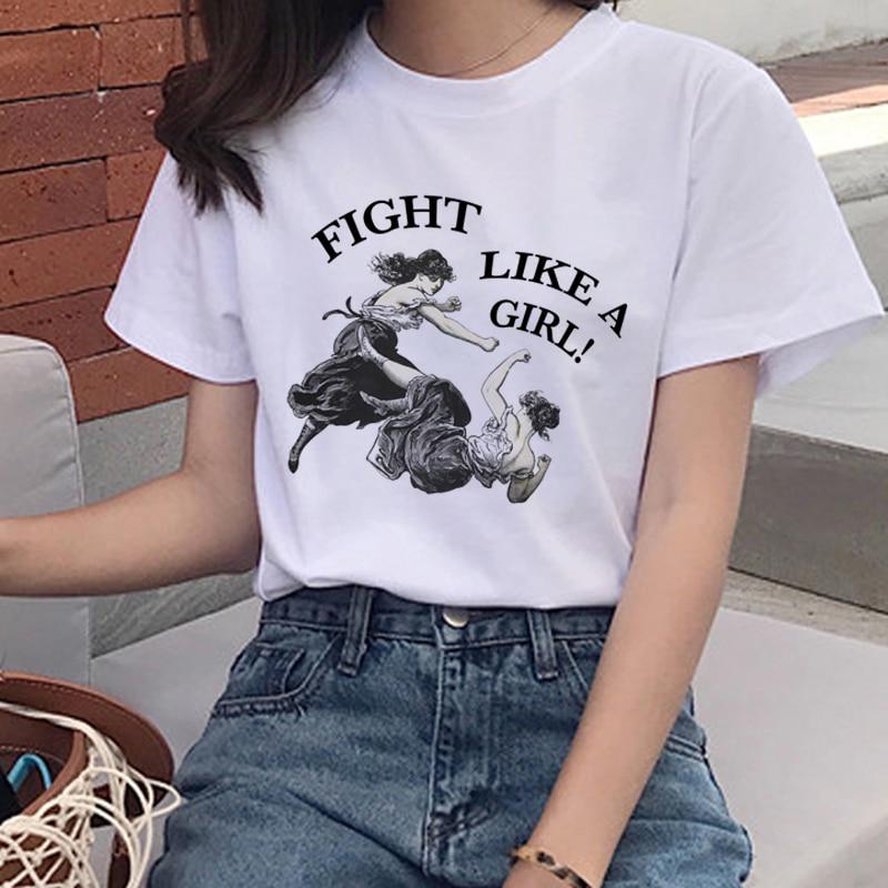 2019 New Summer Feminist Harajuku T Shirt Women The Future Is Female T Shirt Girl Tshirt 90s Top Tees