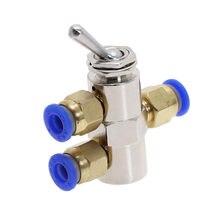 TAC2-4V válvula de escape 2 posição 5 maneira alterna o interruptor de válvula pneumática de ar mecânico cilíndrico w fiittings