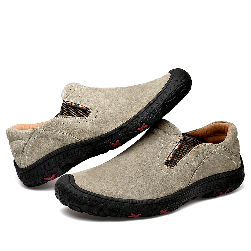 DM50 Designer Leather Shoes Men Brand Footwear Non-slip Thick Sole Fashion Men's Casual Shoes Male High Quality Cowhide Loafers