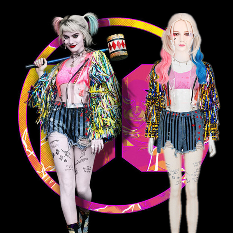 2020 New Batman Birds Of Prey And The Fantabulous Emancipation Of One Harley Quinn Cosplay Costume Women Coat Jacket Outfit Set Buy At The Price Of 16 67 In Aliexpress Com Imall Com