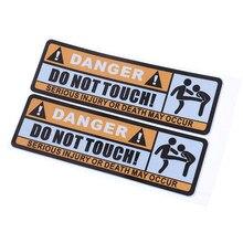 Não toque na etiqueta do carro sinal de aviso impermeável pvc personalizado carros adesivo
