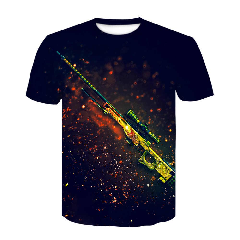CS GO Gamer Pria T Shirt 2020 Musim Panas Baru Csgo Pria T-shirt Kualitas Tinggi Cepat Kering Pria Top Tee Merek pakaian Hip Hop Atasan