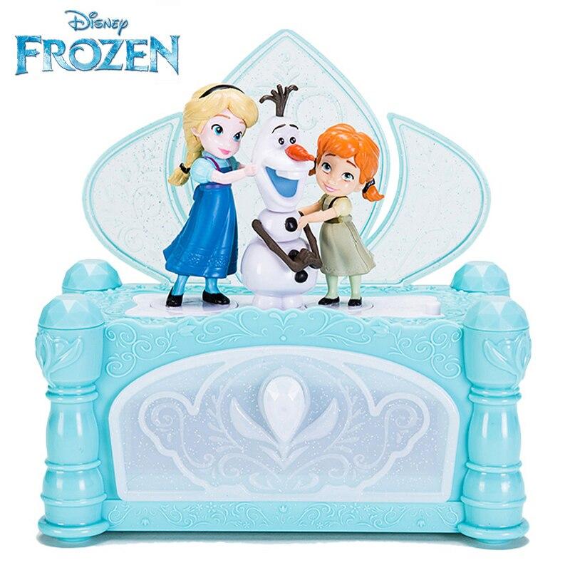 Asli Disney Frozen 2 Musik Kotak Perhiasan Kecil Putri Duyung Putri Anna Olaf Elsa Angka Anak Perempuan Hadiah Natal Aksi Toy Angka Aliexpress