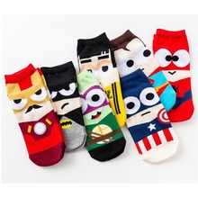 Fashion Funny Cartoon Character Pattern Unisex Socks Cosplay 3D Superheroes Crew Art Happy