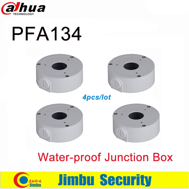 Dahua Bracket  Junction Box PFA134  4pcs/lot  Loading Bearing  1kg Aluminum 90mmX35MM For Bullet Camera HFW11 HFW10 HFW8 HFW1