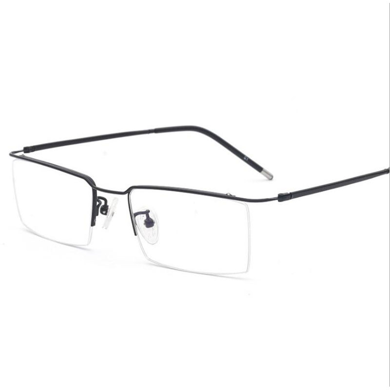 HOTOCHKI Titanium Alloy Half Rimless Optical Prescription Eyeglasses Frame For Men And Women Eyewear Eye Glasses Optical Frame