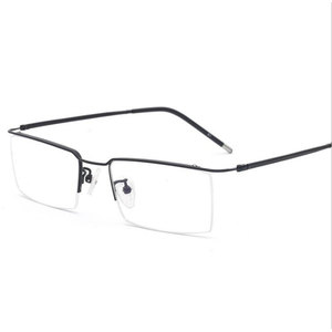 Image 1 - HOTOCHKI Titanium Alloy Half Rimless Optical Prescription Eyeglasses Frame for Men and Women Eyewear Eye Glasses Optical Frame