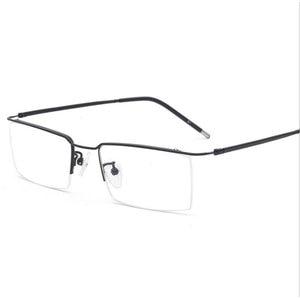 Image 1 - HOTOCHKI טיטניום סגסוגת חצי ללא שפה אופטית מרשם משקפיים מסגרת עבור גברים ונשים משקפי עיניים משקפיים אופטי מסגרת