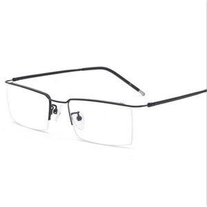 Image 1 - Hotochki Titanium Legering Half Randloze Optische Recept Brillen Frame Voor Mannen En Vrouwen Brillen Bril Optische Frame
