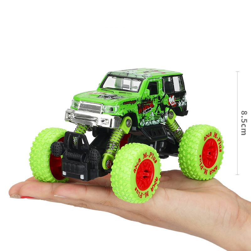 Hot Pull Back <font><b>Wheel</b></font> Toys <font><b>Cars</b></font> Boy Large Monster Truck Inertia Pull Back Alloy Off-road Vehicle <font><b>Model</b></font> <font><b>Car</b></font> Kids Toys Gift 2019 New image