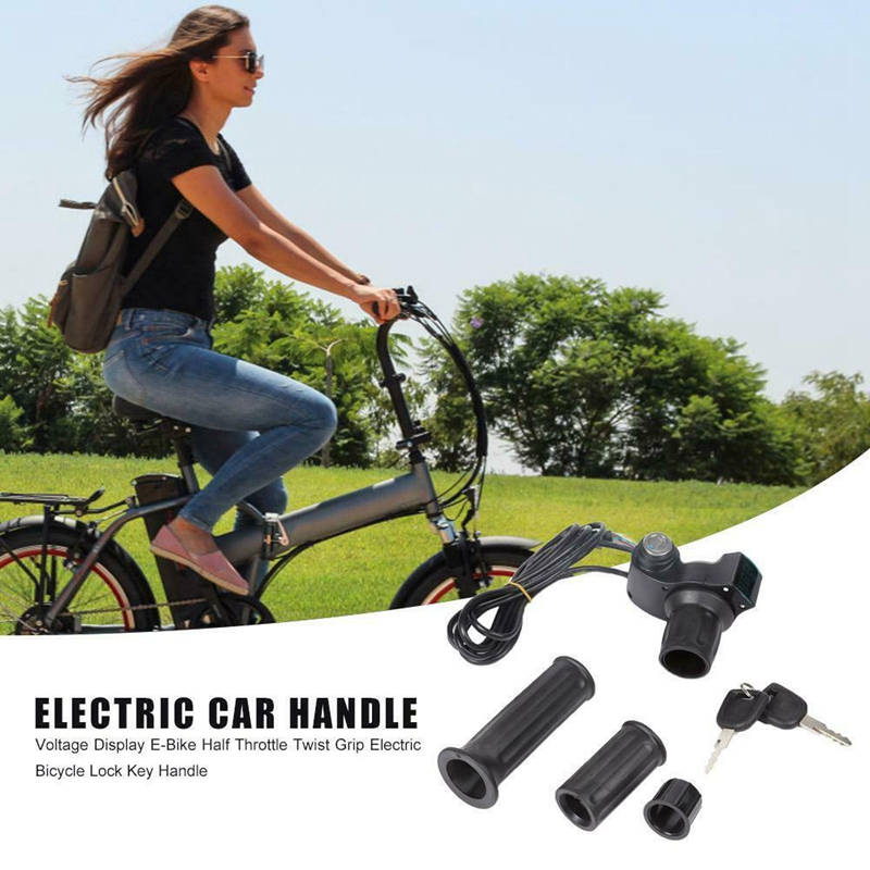 Ebike Throttle,12V 84V Electric Scooter Grip Handlebar Scooter Speed Controller LED Digital Meter + Key Exterior Door Handles    - AliExpress