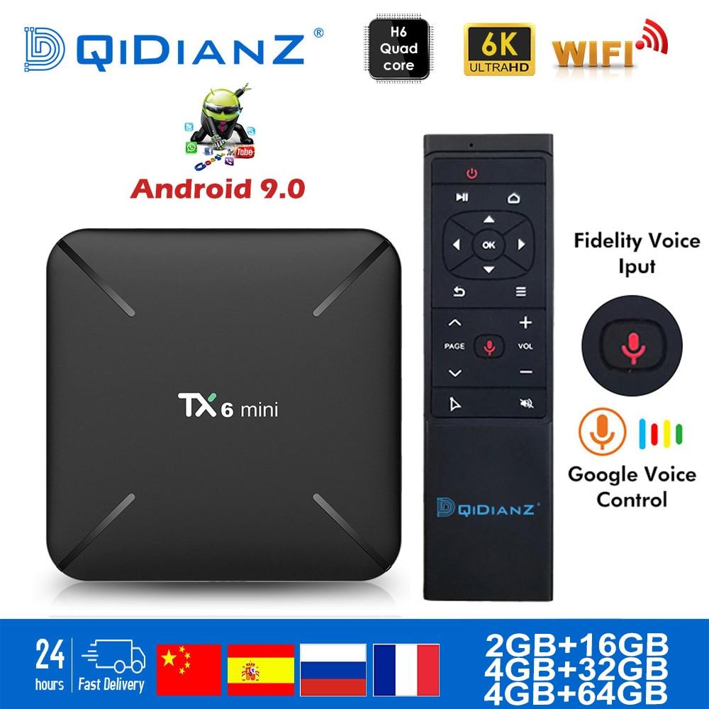 Tanix TX6 mini Smart TV Box android 9.0 Allwinner H6 2G + 16G 2.4GHz WiFi Support 4K H.265 TV récepteur Netflix décodeur TX6mini