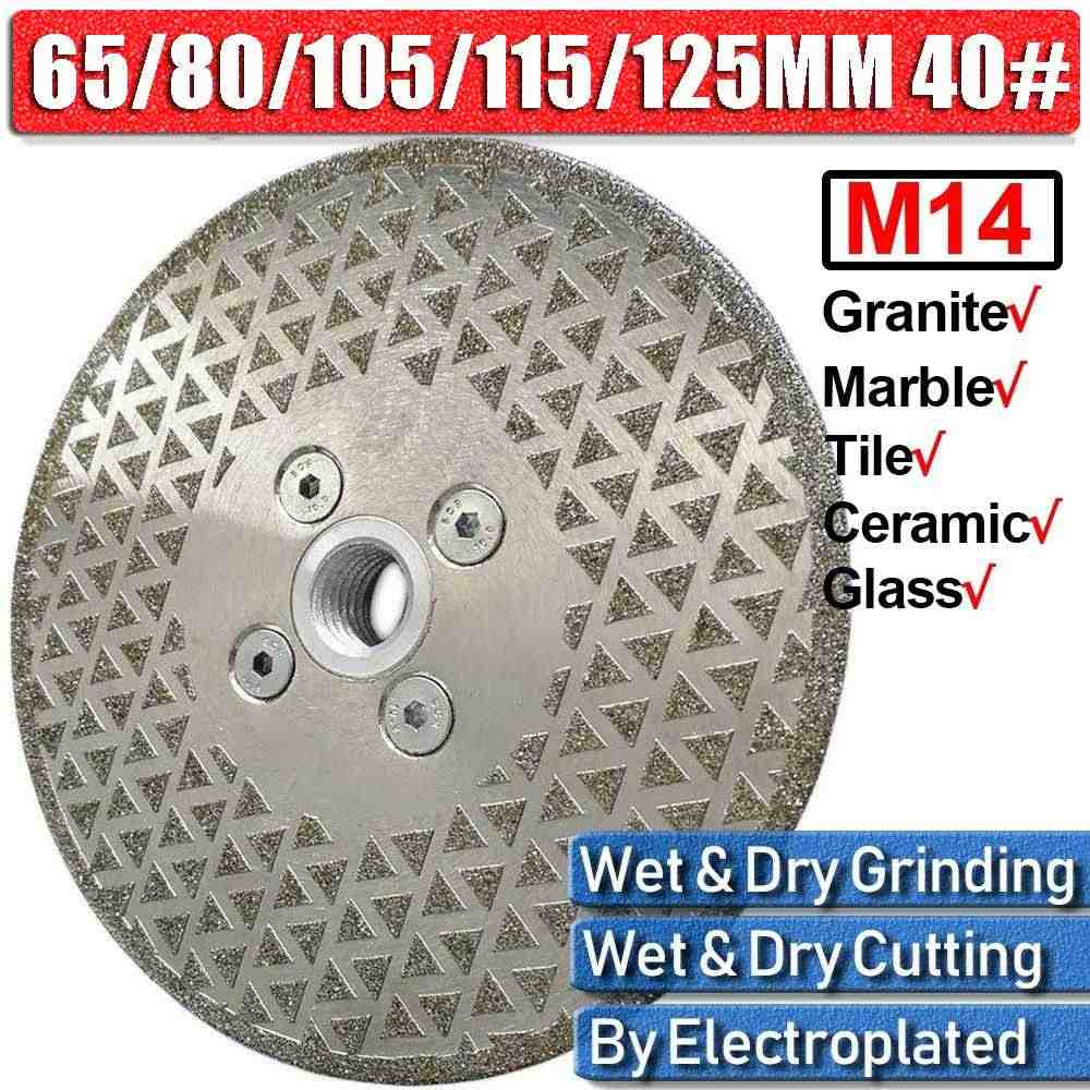 Diamond Grinding Wheel Cutting Disc Pisau Penggiling untuk Ubin Porselen Marmer Granit Cutter Sharpener 65Mm/80Mm/105Mm/115Mm/125Mm