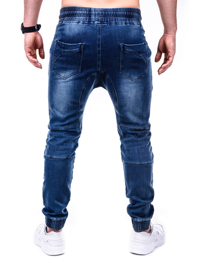2019 Hot Selling Europe And America Men Washing Jean Fabric Casual Athletic Pants Beam Leg Jeans