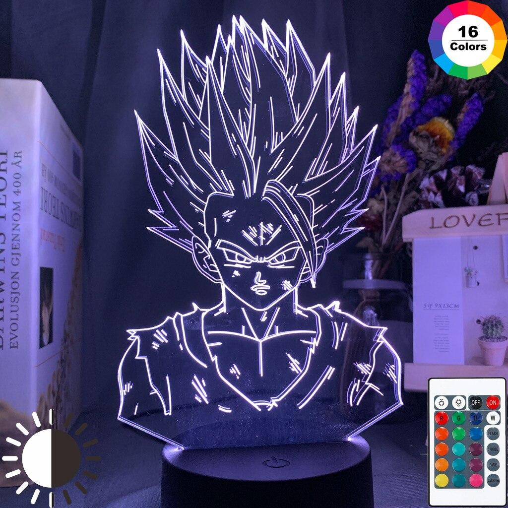 3d Lamp Dragon Ball Z Gohan Figure Child Bedroom Decor Nightlight Cool Kids Gift Anime Gadget Led Night Light Dragon Ball