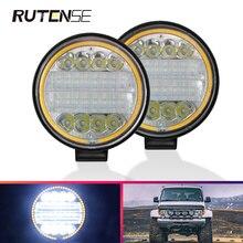 플래시 LED 라이트 바 24LED 작업 빛 스포트 라이트 72W 4x4 4WD 오프로드 트랙터 액세서리 SUV ATV 보트 트럭 굴 삭 기 12V 24V