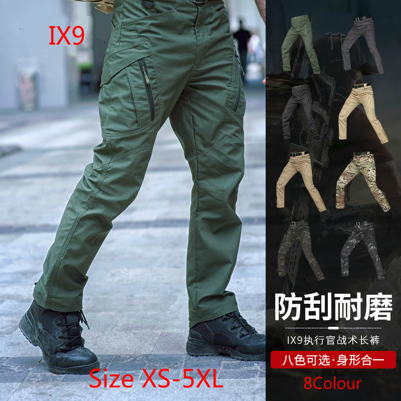 2019 Tactical cargo pants SWAT trousers combat multi pockets military pants training overalls men's cotton Army trousers S 5XL